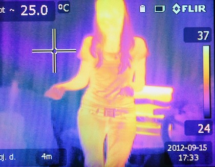 thermogram image of a person