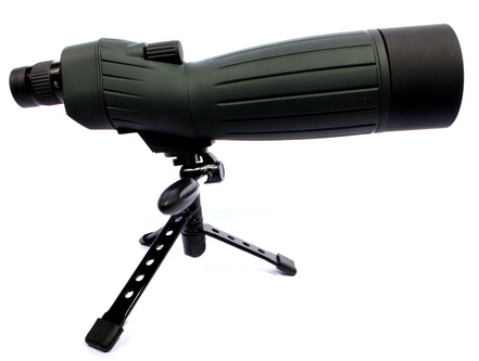 spotting scope on mini tripod